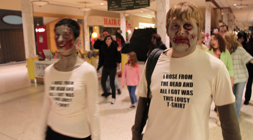 Zombies in the Monroeville Mall.